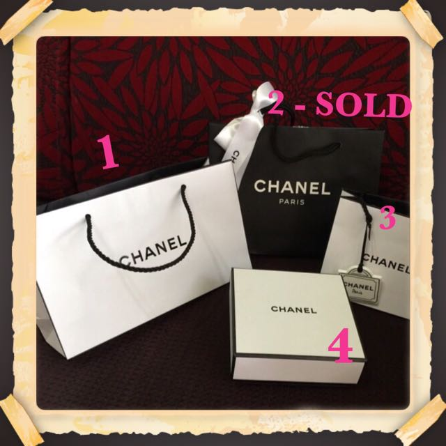 d09e9117485e8b Chanel Gift Bags And Gift Box, Luxury on Carousell