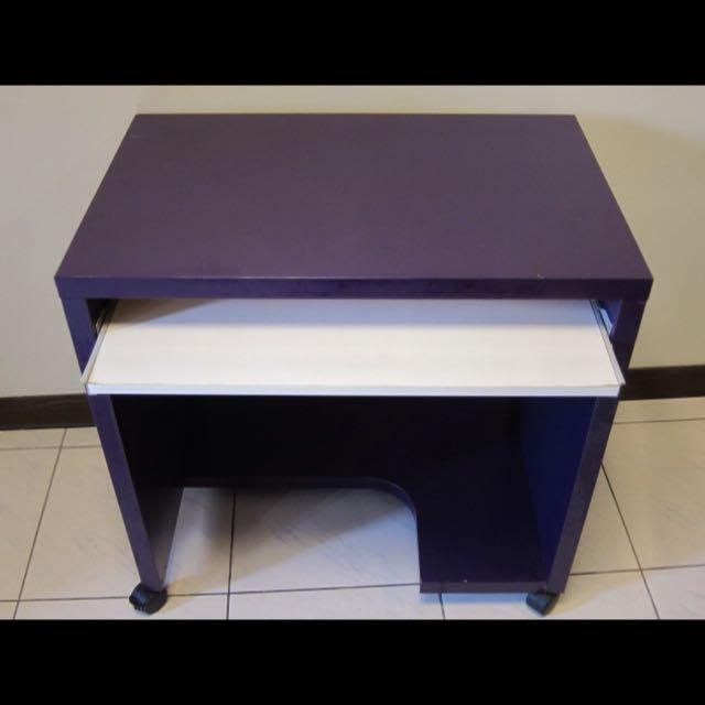 IKEA Mikael電腦桌+SNILLE 旋轉椅+LACK 邊桌