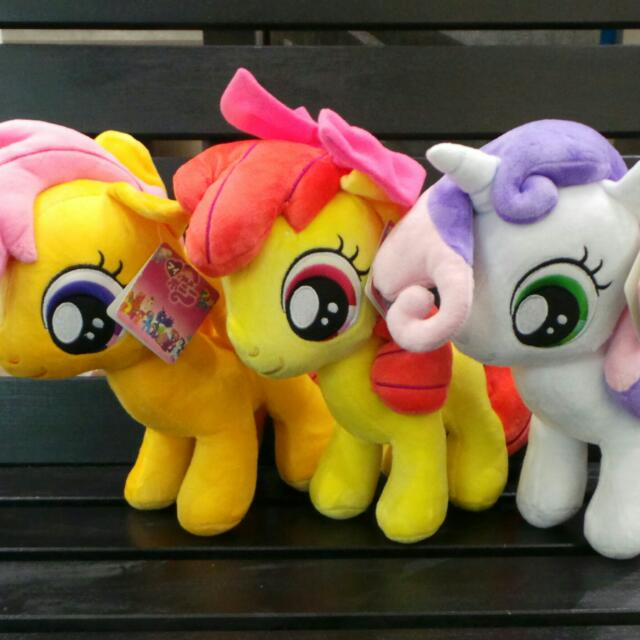 My Little Pony Plush Toy 30cm Apple Bloom Scootaloo Sweetie Belle Cutie Mark Crusaders Soft Toys Gifts Girls Birthday Present Idea Toys Games On Carousell We got our cutie marks! sgd