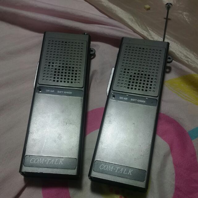 Walkie Talkie Old Skool Nego Working Condt Vintage Collectibles