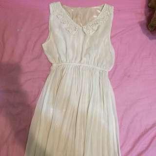 白色女神長洋裝