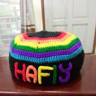 crochet for kuffie raya aidilfitri