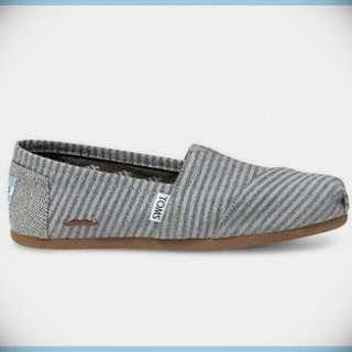 正品代購 Toms Movember Grey stripe wool 翹鬍子款 休閒懶人鞋