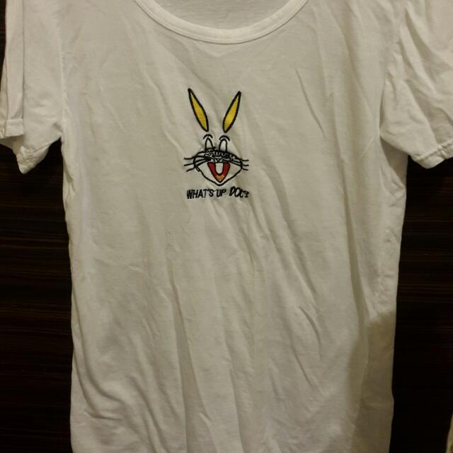 全新韓貨 兔子棉T-白