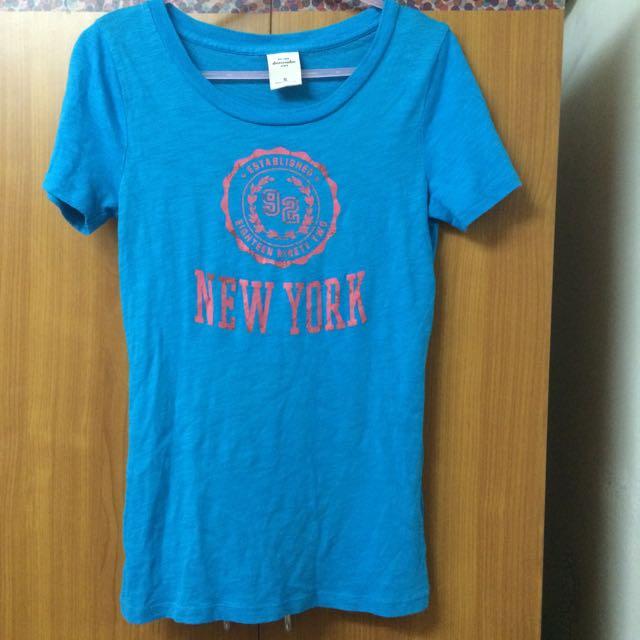 二手)abercrombie T-shirt