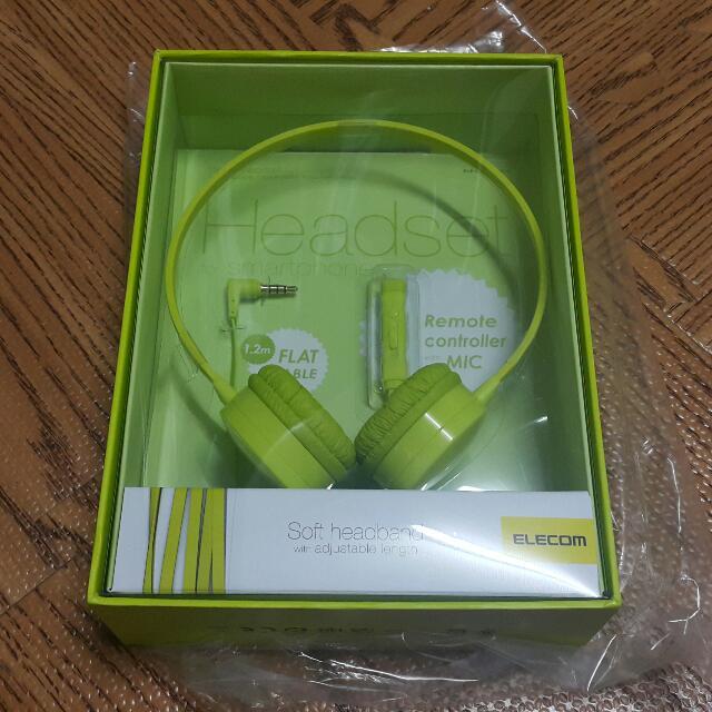 ELECOM Soft headband with adjustable length 耳罩式 綠色
