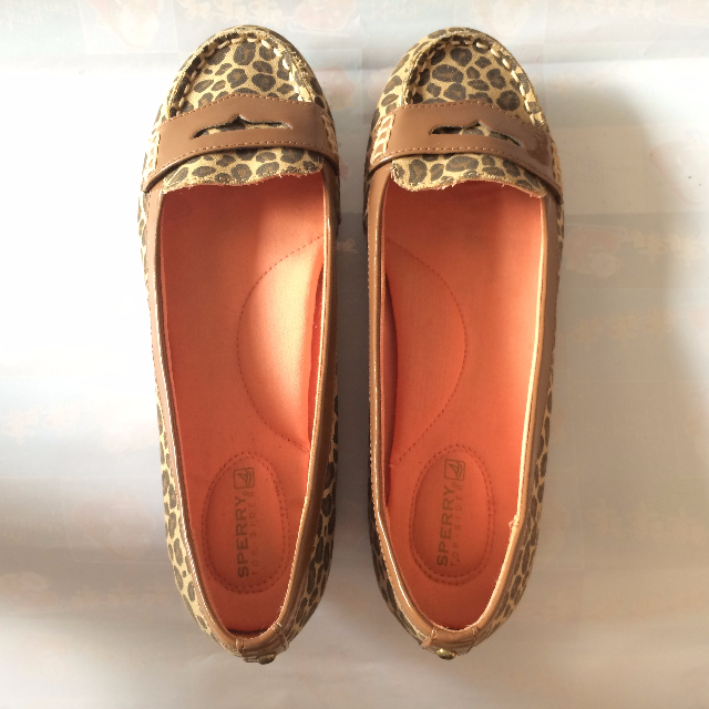 56b8a554792 Sperry Top-Sider Leopard Print Penny Loafer Flats