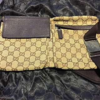Gucci Brown Waist Pouch (Used)