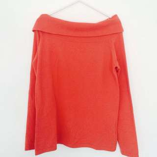 Open Neck Coral Sweater