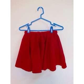 ✨正紅色雪紡短裙