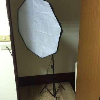 簡易攝影棚必備 兩組燈架*2 燈罩*2 包含收納袋