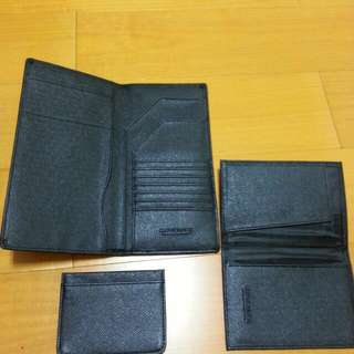 長夾 護照夾與名片夾 三合一