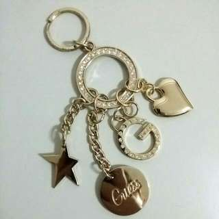 Authentic new GUESS charms keychain