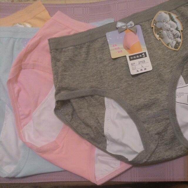 95%棉質高腰生理褲 6件含郵200