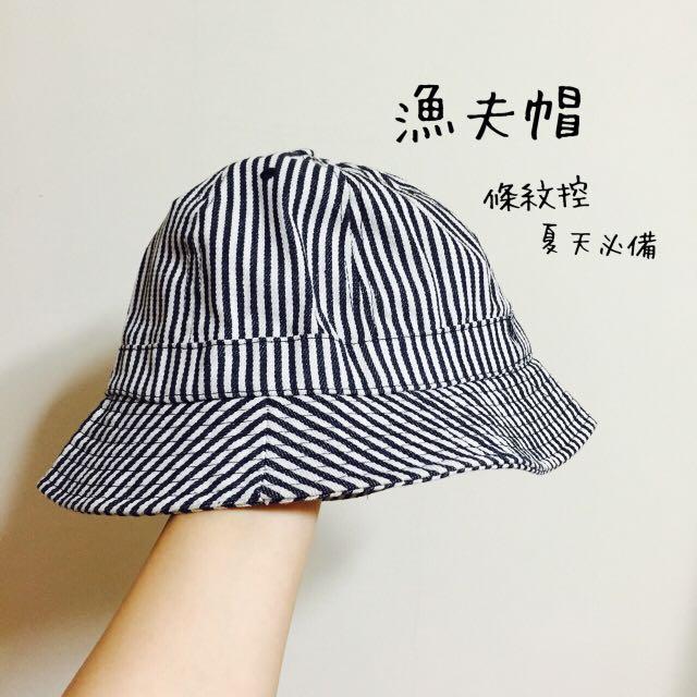 條紋控必備😝可愛漁夫帽
