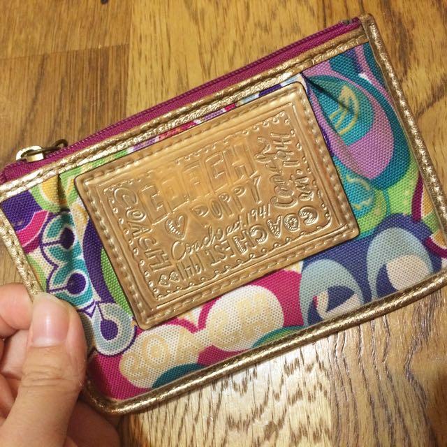 |保留中|正品 Coach 鑰匙包 零錢包 卡夾