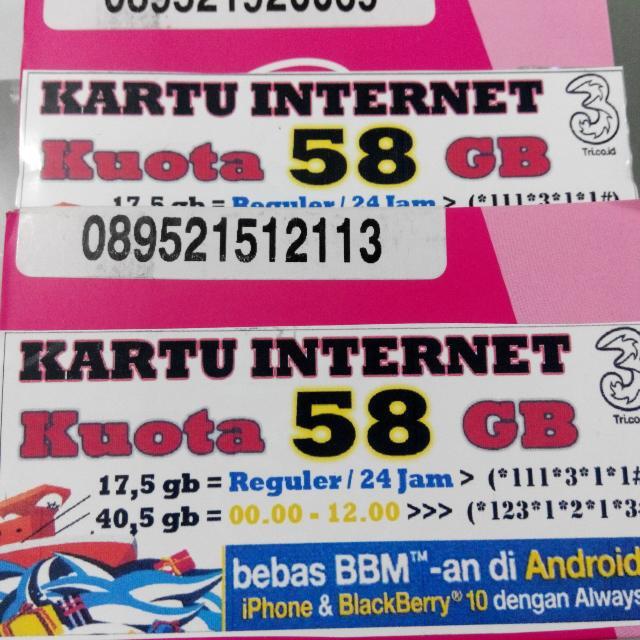 KARTU TRI 58GB