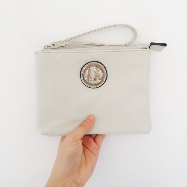 KATE HILL Leather Clutch