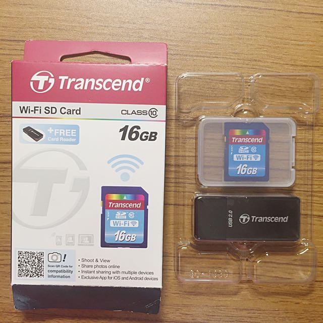 創見Wifi記憶卡16GB(含運)