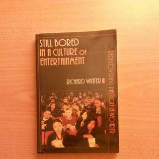 Still Bored In A Culture Of Entertainment - Richard Winter