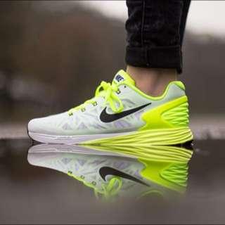 Nike Lunarglide 6 白黃 慢跑鞋 好搭 US11