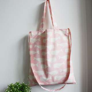 INSTOCK! Pink Swimming Whales Sling Bag