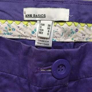 Mango二手紫色短褲