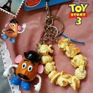 迪士尼 蛋頭爆米花鑰匙圈