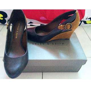 Charles & Keith Covered Wedges