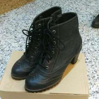 高跟高筒牛津鞋-23.0