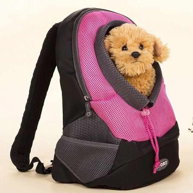 (大號)好寵物雙肩背包/透氣網眼寵物外出袋/中小型犬貓背包//斜背包/手提籠包