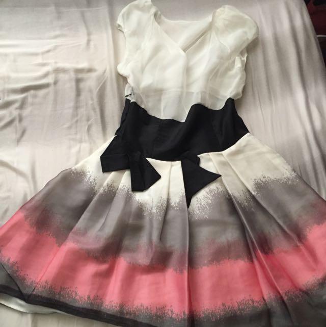 漸層無袖洋裝
