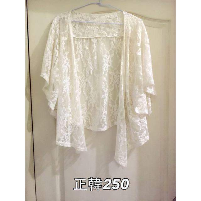 正韓蕾絲罩衫 9成新 1000購入
