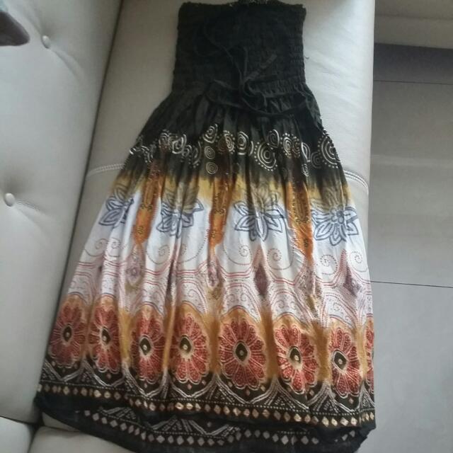 平口洋裝 長裙