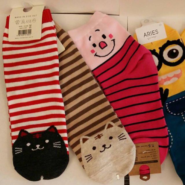 全新 正韓貨 超可愛襪子  共10款