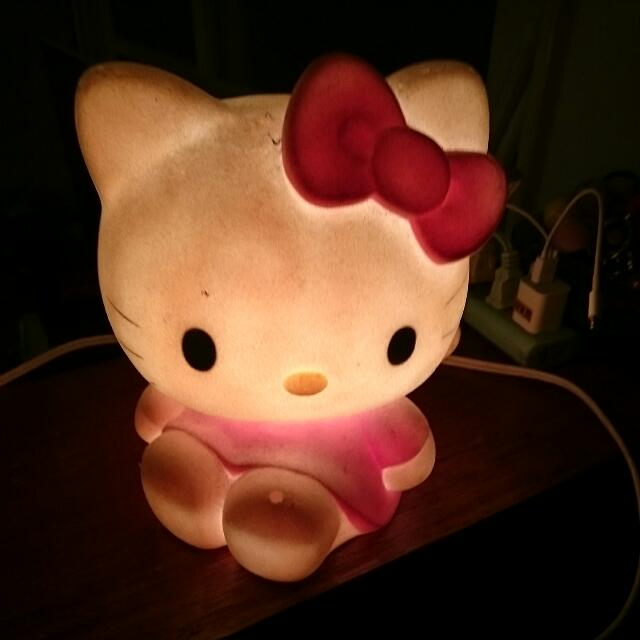 二手 Kitty貓 夜燈 桌燈