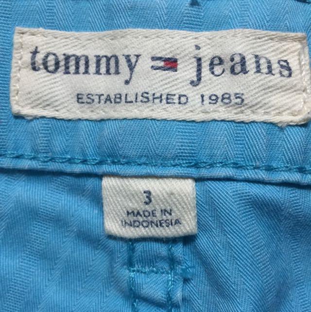 Tommy專櫃藍色七分褲