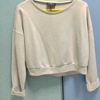 topshop grey cropped sweater