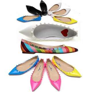 [PO VA03] Best Quality!!! Valentino Inspired Rockstud Studded Flats