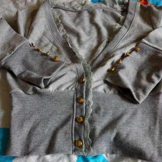 灰色短版小外套