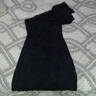 Classy Black Toga Dress