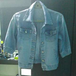 Denim Jacket With Half Sleeves
