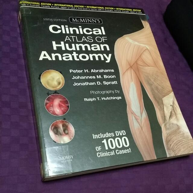 6th Ed Mcminn Clinical Atlas Of Human Anatomy Books Stationery On