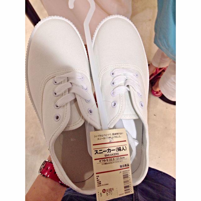 全新無印良品小白鞋