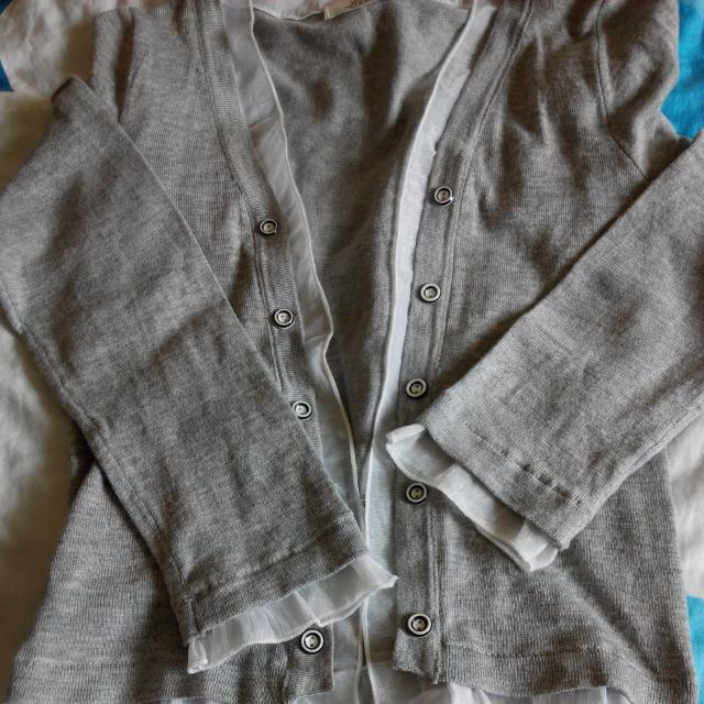 灰色雙排扣外套