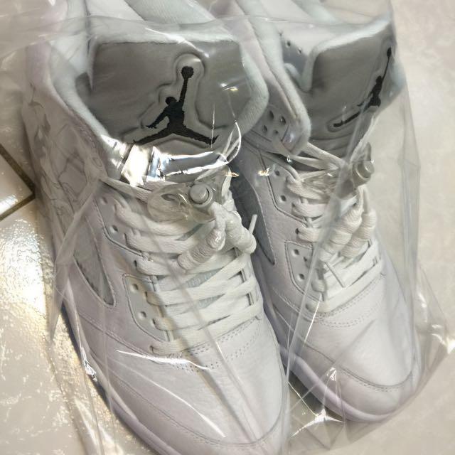 Air Jordan 5 全白反光 Us9.5 全新未試穿