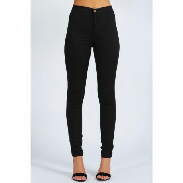American Apparel High Waist Legging Black In XL