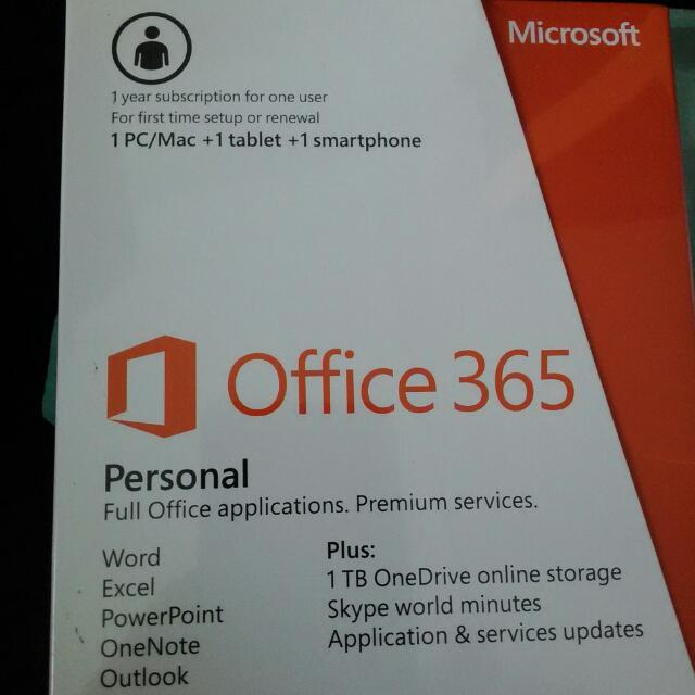 Office 365 (Pc, Tablet And Smartphone)