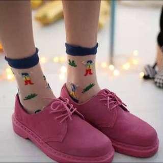 玻璃印花短襪[小孩]
