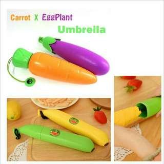 預購款~茄子 胡蘿蔔雨傘